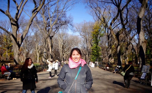 Me on the Central Park Film Locations Tour