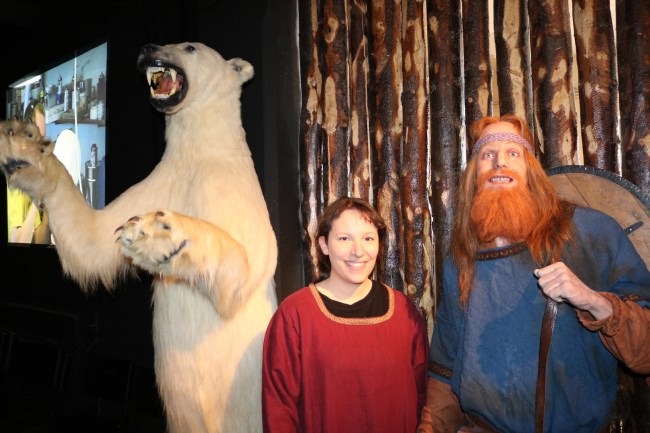 Say cheese! Me, a viking and a polar bear at the Saga Museum in Reykjavik.