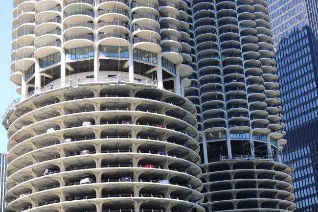 This slightly unusual Downtown Chicago car park has been featured in some Hollywood blockbuster's action scenes...