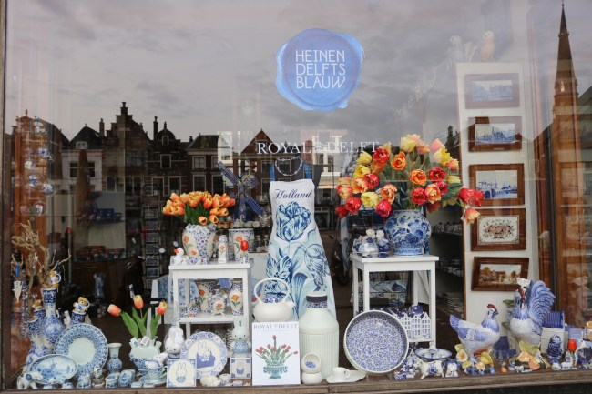 Shopping window in Delft, the Netherlands
