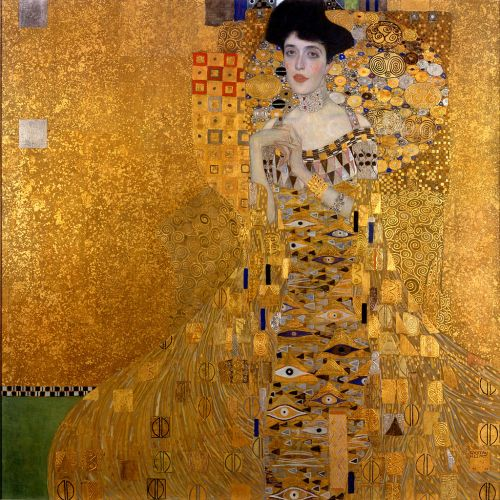 """The Woman in Gold"" by Gustav Klimt. Photo via Wikipedia Commons."