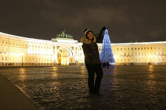 Me and a Christmas Tree at the Hermitage Museum, St Petersburg, Russia