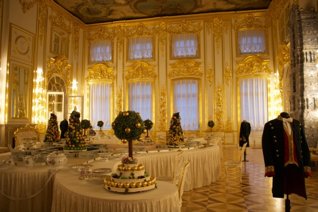 Inside the Catherine Palace in Pushkin near St Petersburg, Russia