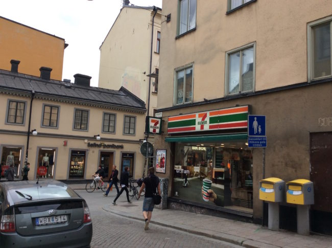 "The 7-Eleven where Lisbeth goes shopping is located in an area of Stockholm which has the highest ""hipster density"". © Sonja Irani / FilmFanTravel.com"