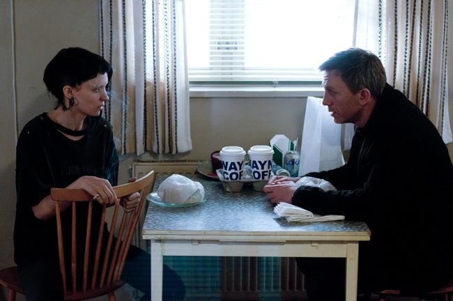 "Daniel Craig and Rooney Mara in ""The Girl with the Dragon Tattoo"" (2011). Photo: © 2011 Columbia TriStar Marketing Group, Inc."