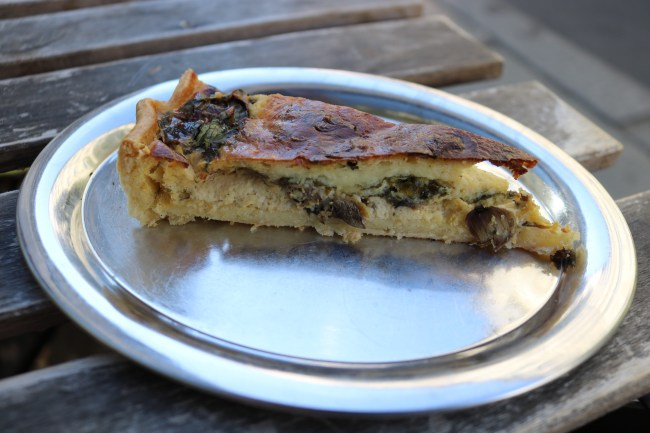 "Vegetarian Quiche on ""New in Berlin"" Food Tour with bitemojo © Sonja Irani / FilmFanTravel.com"