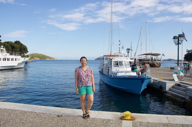 Me at the the Old Port of Skiathos
