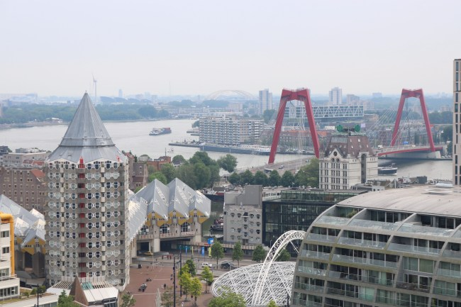 View from the top of St. Lawrence church in Rotterdam. Photo: © Sonja Irani / FilmFanTravel.com