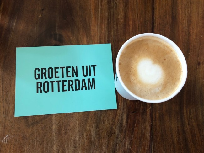 Coffee in Rotterdam. Photo: © Sonja Irani / FilmFanTravel.com
