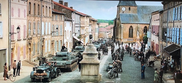 "The town square in ""Suite Francaise"". Photo: © universumfilm"
