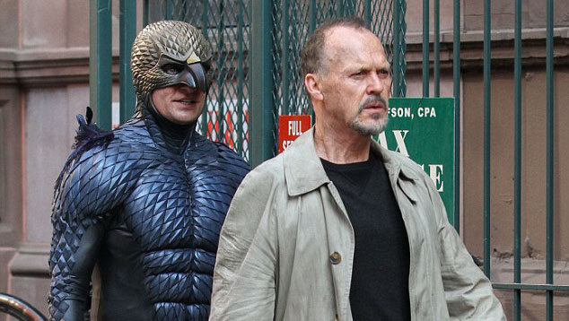 Michael Keaton on set of  BIRDMAN