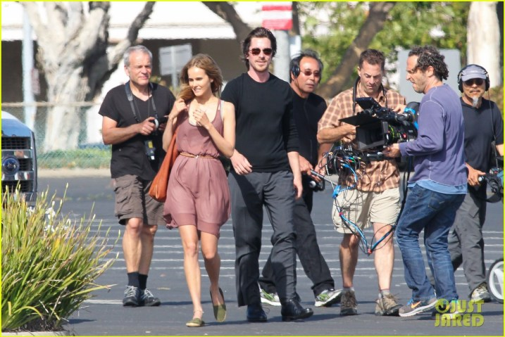 On set of KNIGHT OF CUPS