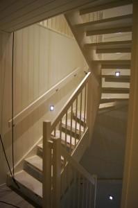 Trapp opp på loftet