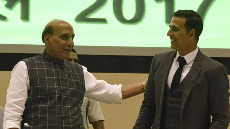 Hm Rajnath Singh praises Akshay Kumar for supporting Indian soldiers