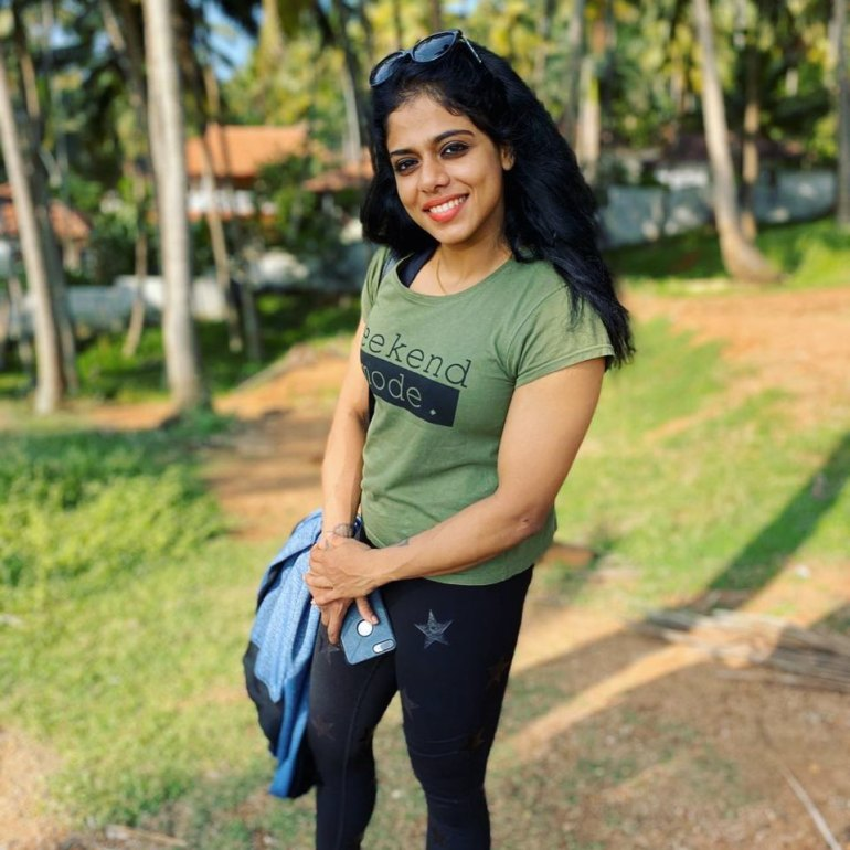 Sreeya Iyer, Anchor turns woman physique the Muscle girl from Kerala 10