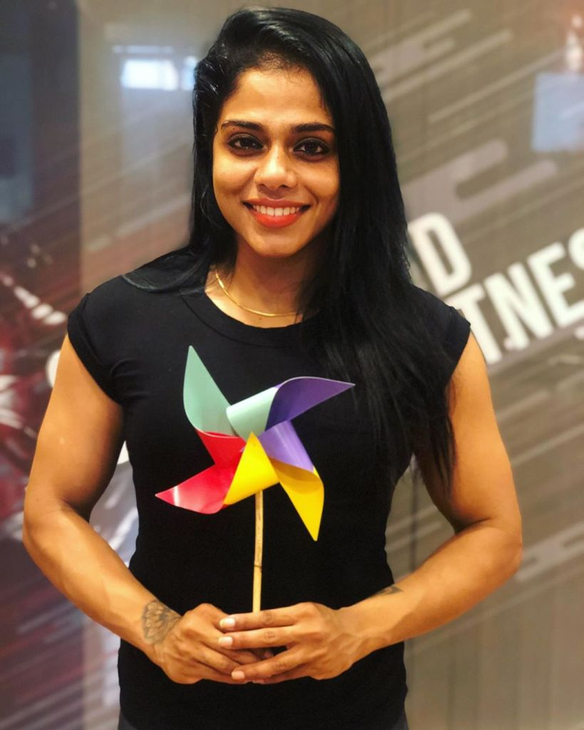 Sreeya Iyer, Anchor turns woman physique the Muscle girl from Kerala 8