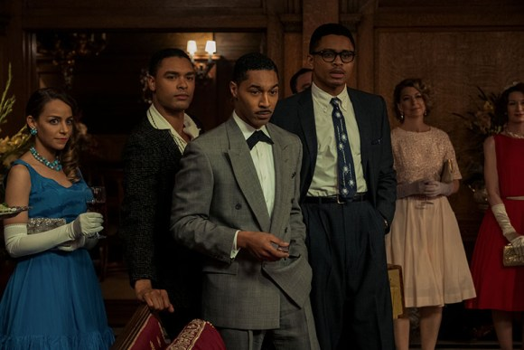 REGÉ-JEAN PAGE as CHICO SWEETNEY, TONE BELL as DICKIE BREWSTER and NNAMDI ASOMUGHA as ROBERT HALLOWAY in SLYVIE'S LOVE