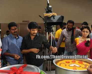 Thani Oruvan film poster, behind the scene