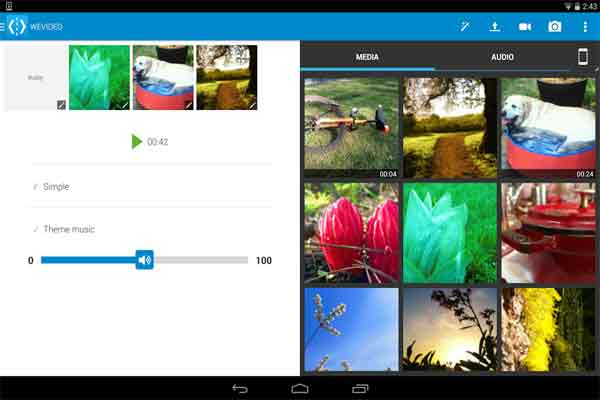 wevideo editor Android Screenshot