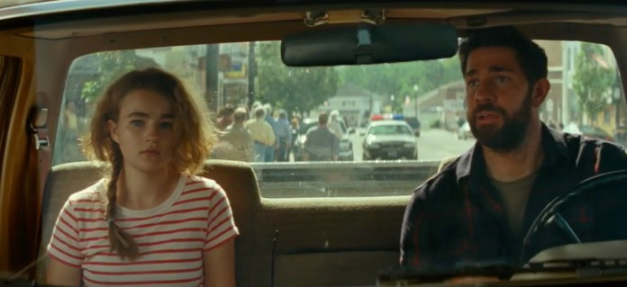 Millicent Simmonds and John Krasinski in A Quiet Place: Part II opening scene