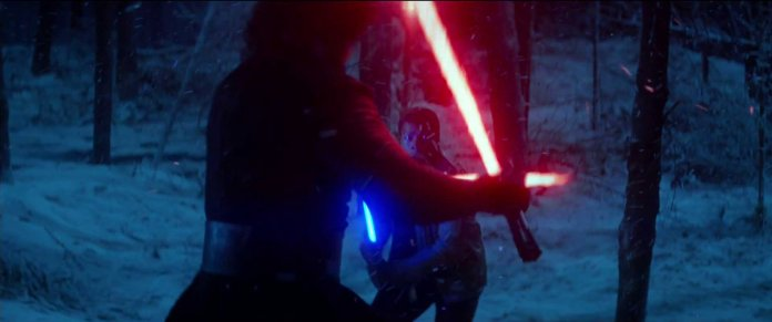 Star Wars The Force Awakens Finn against Ren