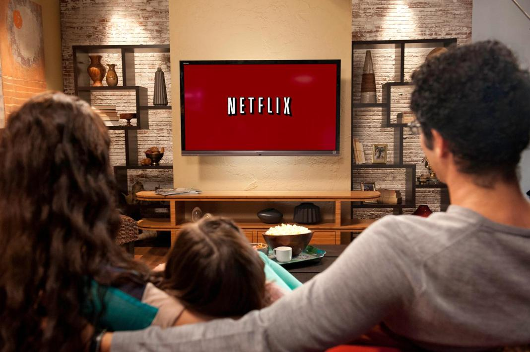 Family watching Netflix