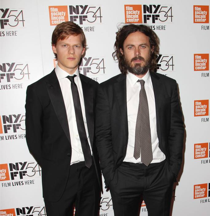 Lucas Hedges and Casey Affleck at the 2016 New York Film Festival.