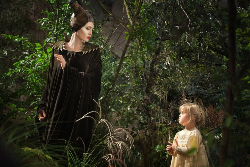 With her own wings clipped by the violent betrayal of her former lover, Maleficent becomes the protector of the tiny and innocent Princess Aurora. © Disney. All rights reserved.