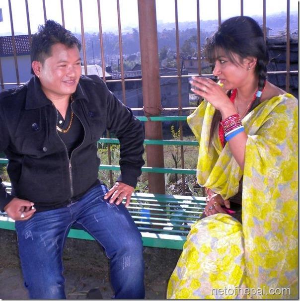 jharana thapa with director dk pun dhukuti