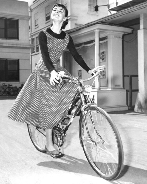 "Audrey Hepburn on the set of ""Sabrina"" (1954). Picture: Marvin Paige Motion Picture and Television Archive"