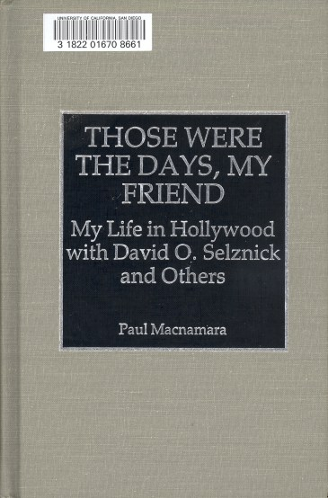 Those Were The Days, My Friend (Paul Macnamara, 1993)