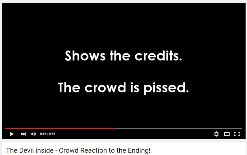 Devil Inside Crowd Reaction