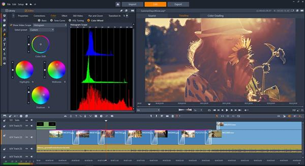 Pinnacle Studio 22 Ultimate - Color Grading