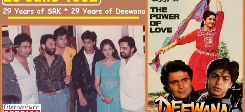 23 Years of Deewana-Shahrukh Khan and Divya Bharti-Filmynism