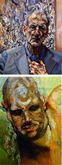 """Lucian Freud, """"Autorretrato"""" (2002) e """"Último retrato de Leigh"""", inacabado"""""""