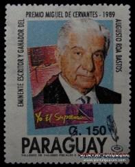 1991 150 ESCRITORES - 27 AGO - Estampillas Paraguay - Portalguarani 800