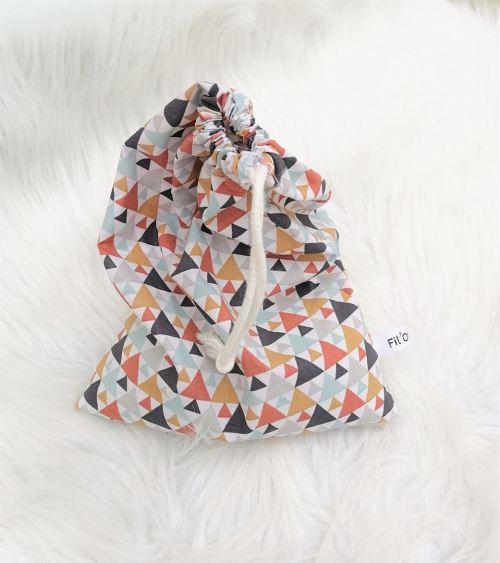 Sac en tissu coton motifs triangles