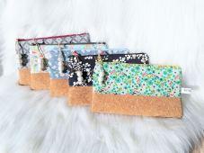 Collection pochettes en liège multiples coloris