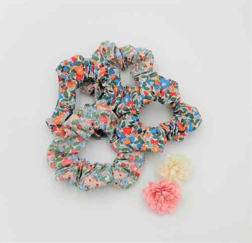 Chouchou tissu fleuri petites fleurs