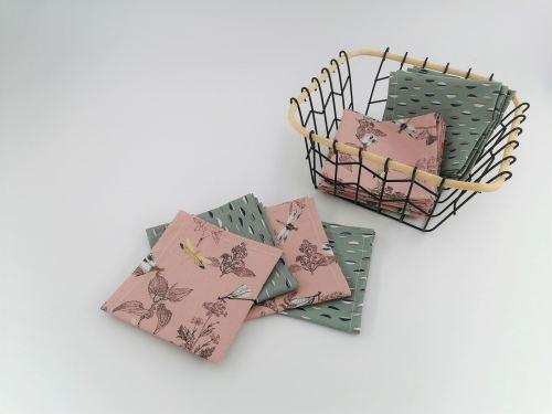 Mouchoir en tissu coton biologique Fil'Otablo Fait main à l'unité ou par lot de 6
