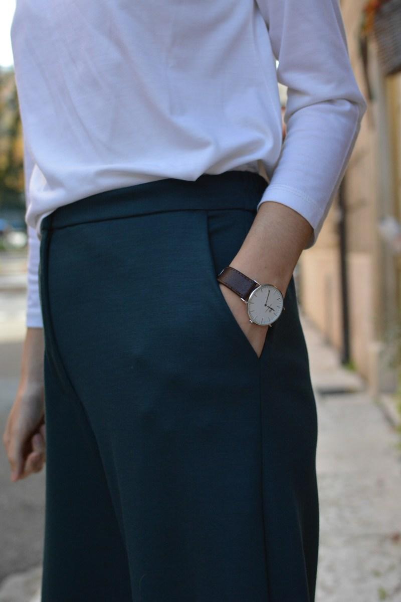 Pantalone a palazzo in jersey 100% lana Filotimo abiti naturali