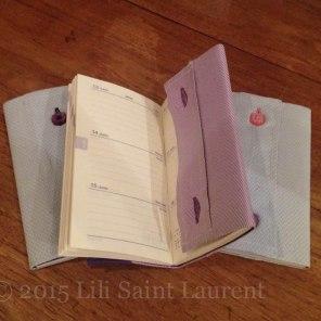 Agendas _13*10 cm_Modèles originaux_ Faits main_ © 2015 L'atelier de Lili