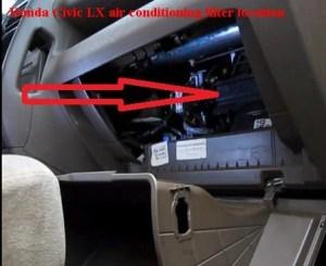 Honda Civic LX cabin air filter location   FilterLocation