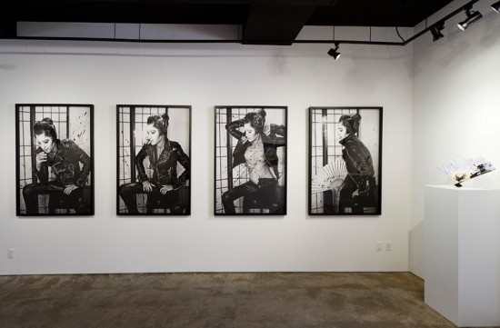 Installation view of Andrea Mary Marshall's contribution to Sacred/Iconic at Garis & Hahn