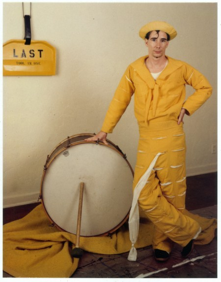 Mike Kelley. Mike Kelley as the Banana Man. 1981. (c) Estate of Mike Kelley.  All rights reserved.  Courtesy Mike Kelley Foundation for the Arts. Photo: Jim McHugh.