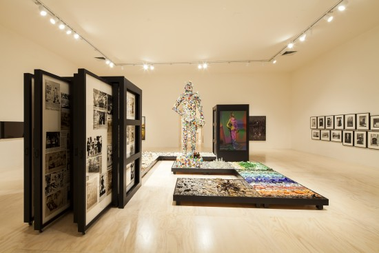 Installation view of Mike Kelley at MoMA PS1, 2013. Photo: Matthew Septimus.
