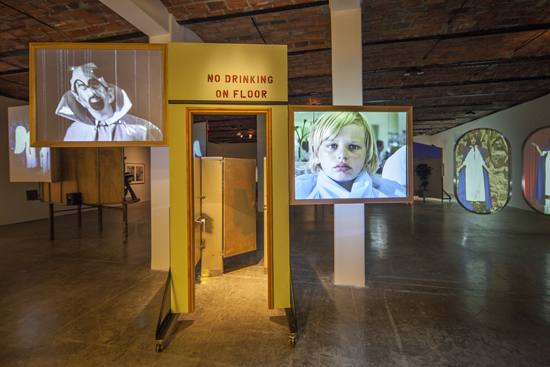 """Installation view of Mike Kelley's """"Day Is Done"""" at MoMA PS1, 2013. Photo: Matthew Septimus."""