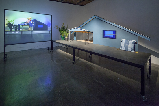 """Installation view of """"Day Is Done"""" at MoMA PS1, 2013. Photo: Matthew Septimus."""
