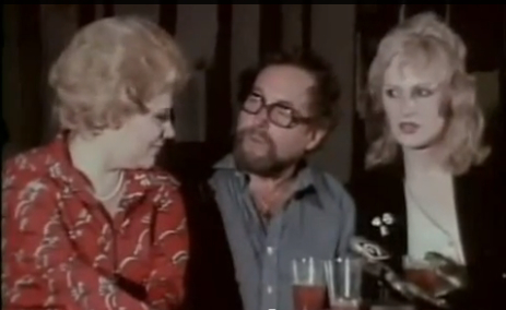 Screencap of Tennessee Williams's press conference for Small Craft Warnings