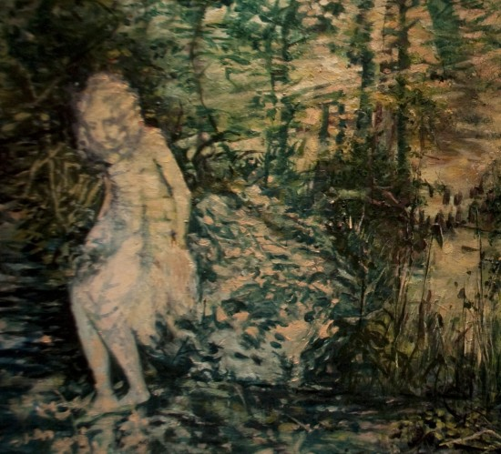 Michele Basta-Smith, Detail of The Wanderer, 2013, oil on canvas (Courtesy the artist)